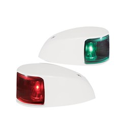 Hella Marine NaviLED Deck Mount Port & Starboard Pair - 2nm - Colored Lens/White Housing