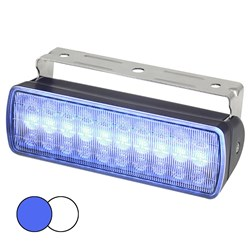 Hella Marine Sea Hawk XL Dual Color LED Floodlights - Blue/White LED - Black Housing
