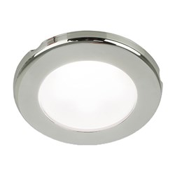 "Hella Marine EuroLED 75 3"" Round Screw Mount Down Light - White LED - Stainless Steel Rim - 24V"
