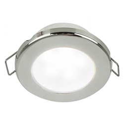 "Hella Marine EuroLED 75 3"" Round Spring Mount Down Light - White LED - Stainless Steel Rim - 24V"