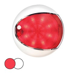 Hella Marine EuroLED 130 Surface Mount Touch Lamp - Red/White LED - White Housing