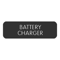"Blue Sea Large Format Label - ""Battery Charger"""
