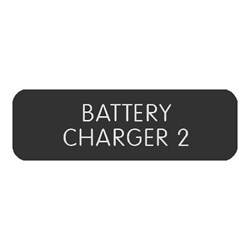 "Blue Sea Large Format Label - ""Battery Charger 2"""