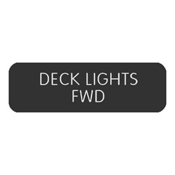"Blue Sea Large Format Label - ""Deck Lights FWD"""