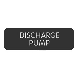 "Blue Sea Large Format Label - ""Discharge Pump"""