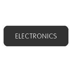 "Blue Sea Large Format Label - ""Electronics"""