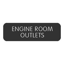 "Blue Sea Large Format Label - ""Engine Room Outlets"""