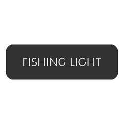 "Blue Sea Large Format Label - ""Fishing Light"""