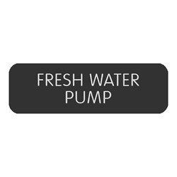 "Blue Sea Large Format Label - ""Fresh Water Pump"""