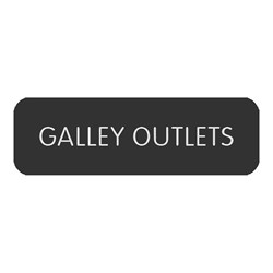"Blue Sea Large Format Label - ""Galley Outlets"""
