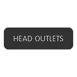 "Blue Sea Large Format Label - ""Head Outlets"""