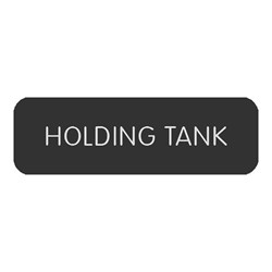 "Blue Sea Large Format Label - ""Holding Tank"""