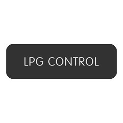"Blue Sea Large Format Label - ""LPG Control"""