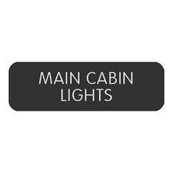 "Blue Sea Large Format Label - ""Main Cabin Lights"""