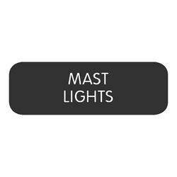 "Blue Sea Large Format Label - ""Mast Lights"""