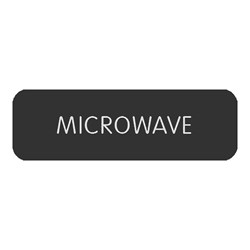 "Blue Sea Large Format Label - ""Microwave"""