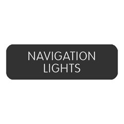 "Blue Sea Large Format Label - ""Navigation Lights"""