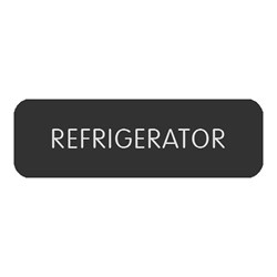 "Blue Sea Large Format Label - ""Refrigerator"""