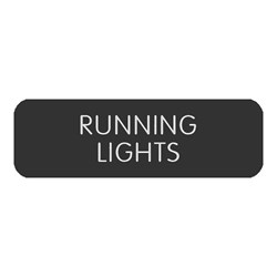 "Blue Sea Large Format Label - ""Running Lights"""