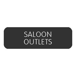 "Bue Sea Large Format Label - ""Saloon Outlets"""