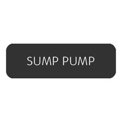 "Blue Sea Large Format Label - ""Sump Pump"""