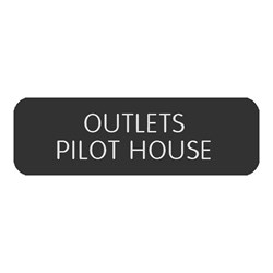 "Blue Sea Large Format Label - ""Outlets Pilothouse"""