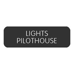 "Blue Sea Large Format Label - ""Lights Pilothouse"""