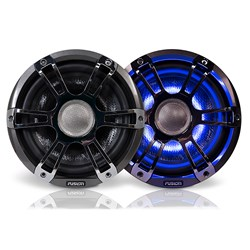 "FUSION FL88SPC Signature Series Speakers 8.8"" Sport Grill - (Pair) Chrome"