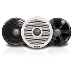 "FUSION FR6022 6"" Round 2-Way IPX65 Marine Speakers - 200W - Pair w/3 Speaker Grilles Provided"