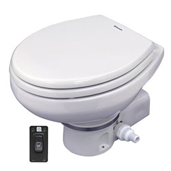 Dometic MasterFlush 7260 White Electric Macerating Toilet - Raw Water - 12V