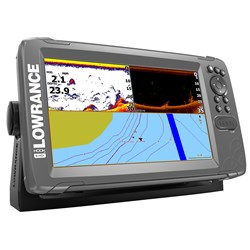 "Lowrance HOOK²-9 9"" Chartplotter/Fishfinder SplitShot Transom Mount Transducer w/Built-In US Inland Charts"