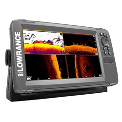 "Lowrance HOOK²-9 9"" Chartplotter/Fishfinder TripleShot Transom Mount Transducer w/Built-In US Inland Charts"