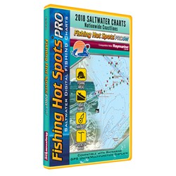Fishing Hot Spots PRO SW - 2018 Digital Map & Fishing Chip f/Raymarine Units - Salt Water