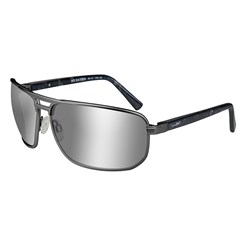 Wiley X Hayden Sunglasses - Polarized Silver Flash Lens - Grey Frame