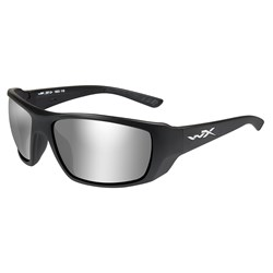 Wiley X Kobe Sunglasses - Silver Flash Smoke Grey Lens - Matte Black Frame