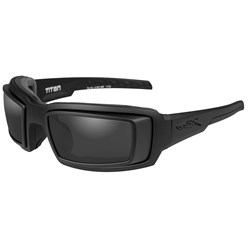 Wiley X Titan Sunglasses - Smoke Grey Lens - Matte Black Frame w/Rx Rim