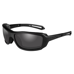 Wiley X Wave Sunglasses - Smoke Grey Lens - Matte Black Frame