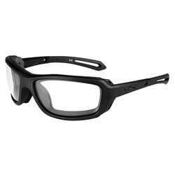 Wiley X Wave Sunglasses - Clear Lens - Matte Black Frame