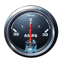 "Faria 2"" Amp Gauge - Chesapeake Black w/Stainless Steel Bezel"