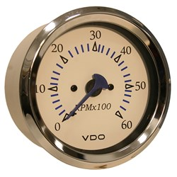 VDO Allentare 4,000 RPM Tachometer Gauge - 85mm - White