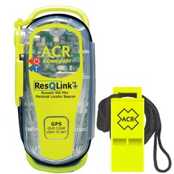 "ACR PLB Rescue Kit Includes 2881 ResQLink+™ 406 MHz GPS PLB Floats w/o Pouch & Survival Res-Q™ Whistle w/18"" Lanyard"