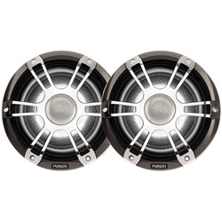 "FUSION SG-CL65SPC Signature Series Speakers 6.5"" Grill - 230 W -Silver/Chrome"