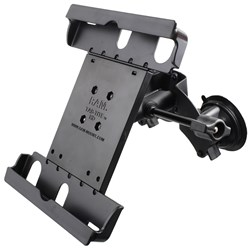 RAM Mount Dual Suction Cup Mount w/Retention Knob & Large Tab-Tite™ Universal Tablet Holder