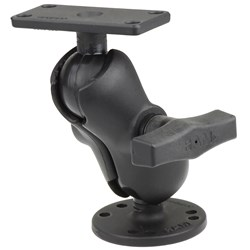 "RAM Mount 1.5"" Ball Mount w/2.5"" Round Base, Short Arm & 1.5"" x 3"" Plate f/Humminbird Helix 5 Only"