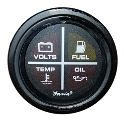 "Faria Heavy-Duty 2"" Warning Light Indicator (4-Icon) - Black"