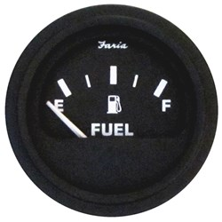 Faria Heavy-Duty Fuel Level Guage (E-1/2-F) - Black *Bulk Case of 24*