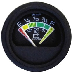 "Faria Heavy-Duty 2"" Battery Condition Indicator - 12 VDC - Black *Bulk Case of 12*"
