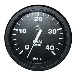 "Faria 4"" Heavy-Duty Tachometer (4000 RPM) Diesel (Mag P/U) - Black *Bulk Case of 12*"