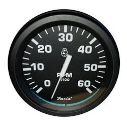 "Faria 4"" Heavy-Duty Tachometer (6000 RPM) Gas - Black *Bulk Case of 12*"