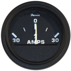 "Faria 2"" Heavy-Duty Ammeter (30-0-30) - Black *Bulk Case of 24*"
